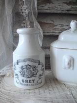 Seltener antiker Dijon Senftopf aus Frankreich 1900