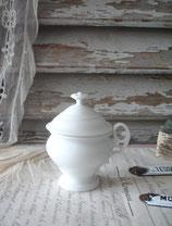 Antike kleine Porzellan Tasse mit Deckel aus Frankreich 1900
