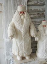Alte große Wattefigur Weihnachtsmann / Väterchen Frost
