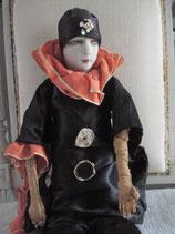 Shabby: Antike Boudoirpuppe Pierrot Frankreich