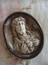 Antikes Medaillon Jesus aus Frankreich