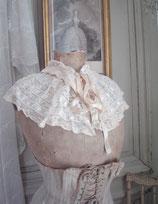Zauberhafter großer Kragen aus Spitze Frankreich um 1900