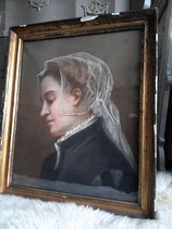 Zauberhaftes Pastell Damen Porträt  aus Frankreich