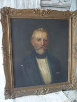 Antikes Herren Porträt Ölgemälde 19. Jahrhundert