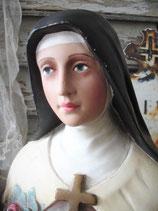 Wunderbare große Gips Büste Heilige Therese Frankreich 1900