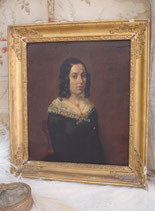 Antikes Mädchen Porträt Ölgemälde 19. Jahrhundert