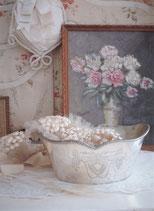 Alte kleine versilberte Obstschale aus Frankreich