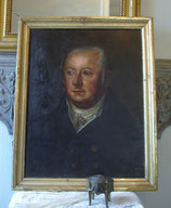 Antikes Herren Porträt Öl auf Holz um 1870