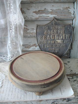 Dekoratives altes rundes Holzplateau aus Frankreich Boudoir