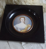 Alte Miniatur Porträt Lupenmalerei Frankreich
