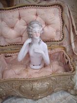 Antike große Teepuppe - Halbpuppe Porzellan