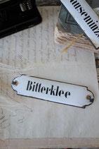 "Altes Emaille Apothekerschild Metall ""Bitterklee"""