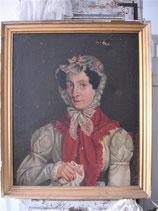 Antikes Damen Porträt Öl auf Leinen