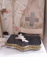 Altes Holzplateau aus Frankreich Boudoir