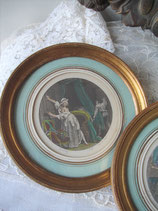 Antike Gravure gerahmt Frankreich 19. Jahrhundert