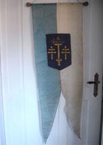 Shabby: Antike Fahne / Prozessionsflagge aus Frankreich