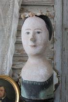 RAR: Antike Marotte / Pappmascheekopf aus Paris