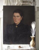 Antikes großes Damen Porträt Ende 19. Jahrh.