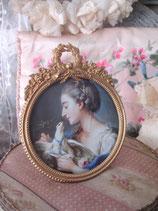 Antiker runder Bilderrahmen Frankreich