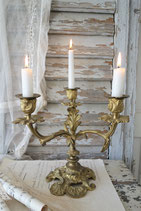 Antiker Rocaillen Kerzenständer 3-flammig aus Frankreich