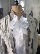 Zauberhafter Kragen / ärmellose Bluse Frankreich 1900