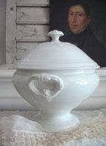 Shabby: Alte Keramik Terrine Frankreich