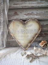 Antikes großes französisches Emaille Herz 1930