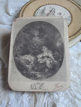 Dekorative alte Bonbonschachtel aus Frankreich um 1900