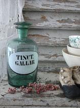 Seltene große antike Apothekerflasche