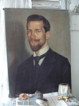 Antikes Porträt eines jungen Mannes um 1920