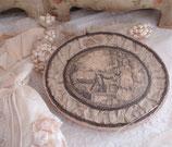 Wunderbare alte ovale Bonbonschachtel aus Frankreich