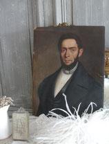 Portrait eines Herrn Biedermeier Öl