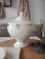 Shabby: Antike ovale Keramik Terrine Frankreich