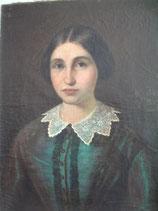 Zauberhaftes großes Damen Porträt  - Öl auf Leinen