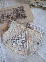 Schönes antikes Perlen Portemonaie Frankreich