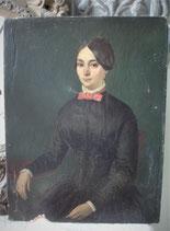Elegantes Damen Porträt - Öl auf Leinen aus Frankreich