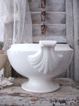 Shabby: Alte Keramik Terrine aus Belgien