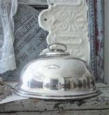 Kleine versilberte Speise Cloche England 1900