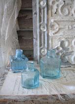 Antike Glasgefäße / Tintenflaschen um 1890