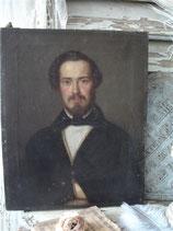 Antikes Porträt eines jungen Herrn Öl auf Leinwand