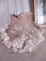 Seltener antiker Brautkranz Frankreich 19. Jahrhundert