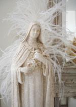 Zauberhafte alte Madonna aus Gips - Frankreich