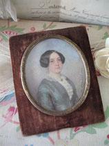 Zauberhafte Miniatur - Porträt einer Dame von 1880