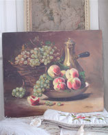 Dekoratives antikes Stilleben - Ölgemälde, Ende 19. Jahrhundert