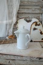 Dekorative alte Schokokanne aus Porzellan