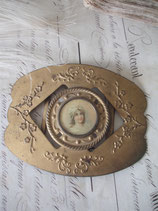 RAR: Wunderschöne antike Gürtelschnalle Medaillon Frankreich