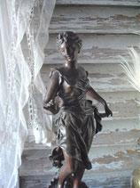 """Wunderschöne antike Statue """"Muse"""", Frankreich 19. Jahrh."""