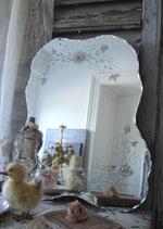 Zauberhafter alter Spiegel geschliffenes Glas