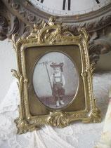 Süßer antiker Messing Bilderrahmen 19. Jahrhundert Frankreich