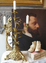 Antiker Lilienleuchter / Altarleuchter aus Frankreich